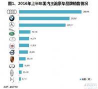2016年上半年国内豪华车市销量分析:DS跌出前十