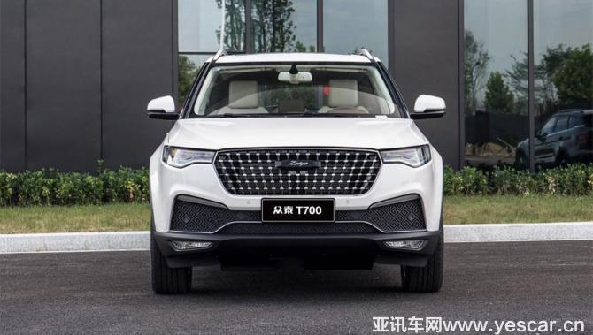 4款配置 众泰T700 8AT车型12月7日上市