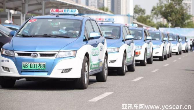 今年底 深圳出租车将实现100%纯电动化